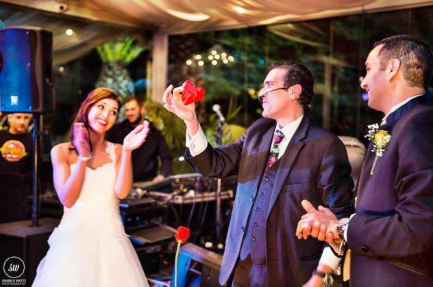 A special performance for a special Bride and Groom